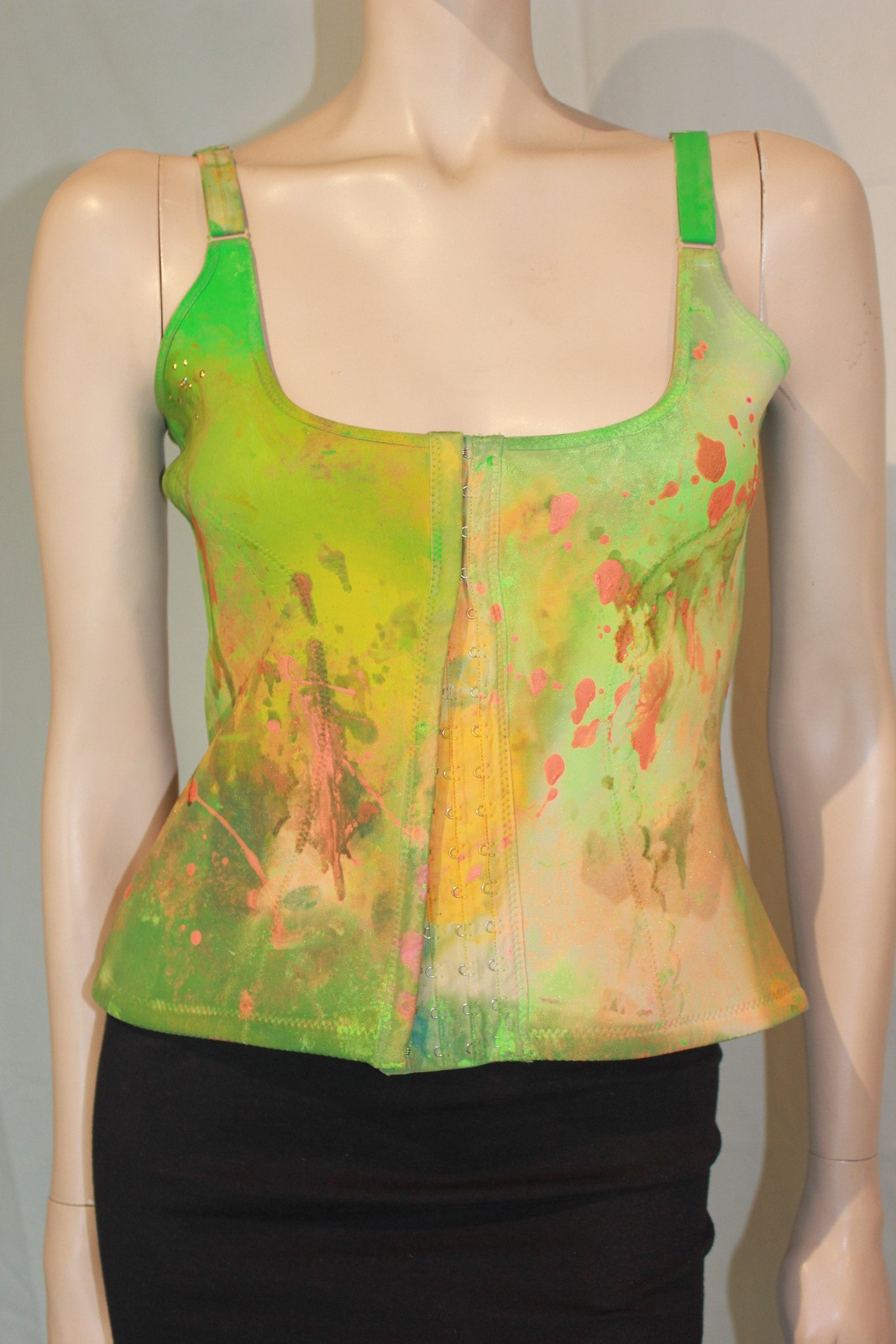Hand Painted Green Corsets