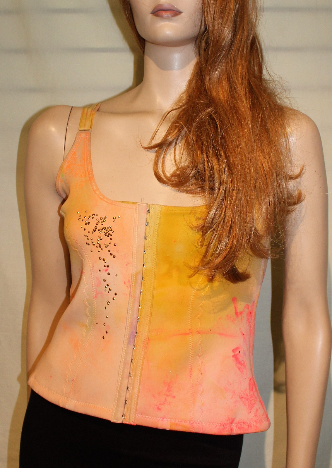 Orange Biege Corset #9810