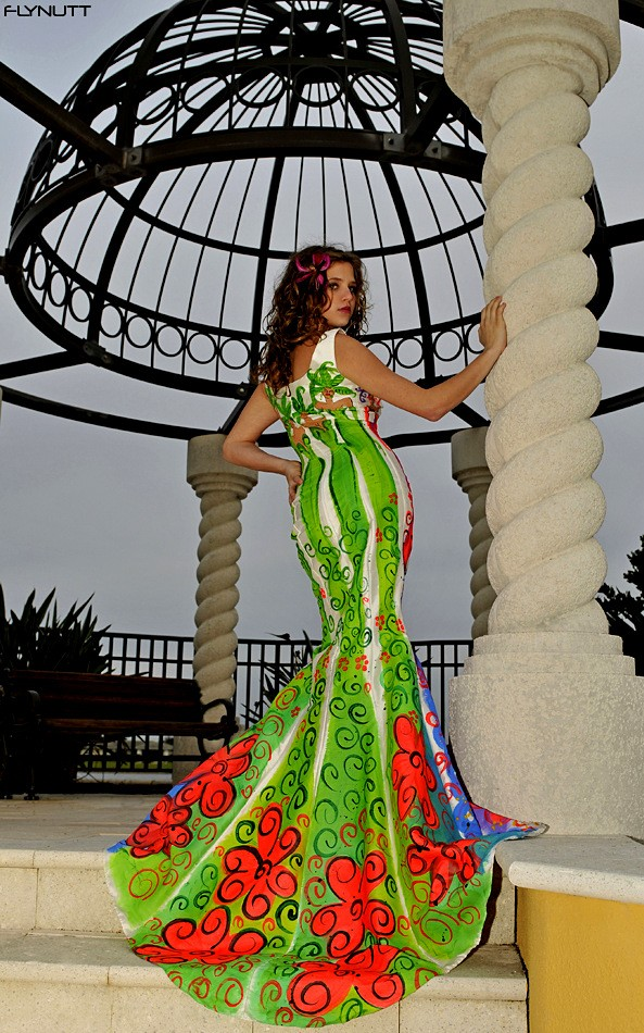 Diva Dress Green Custom made